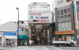 ②芥川商店街に入りそのまま進みます。